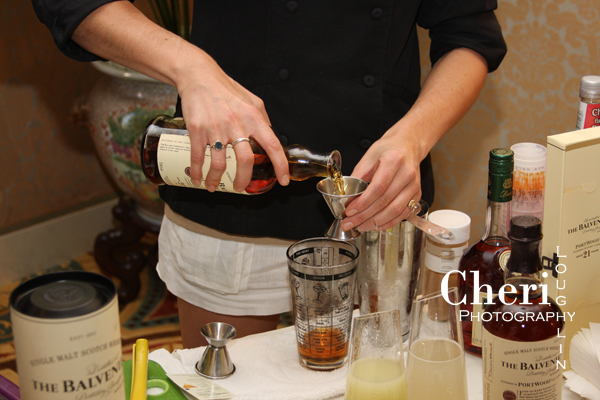 Mixing Christmas Cake Martini Balvenie and Glenfiddich Tasting Room - Tales of the Cocktail
