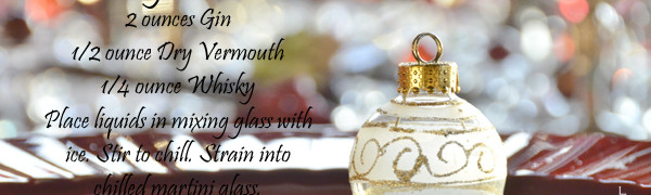 Paisley Martini 2 ounces Gin 1/2 ounce Dry Vermouth 1/4 ounce Whisky Place liquids in mixing glass with ice. Stir to chill. Strain into chilled martini glass.