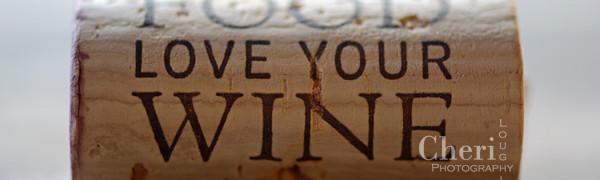 Love Your Food Love Your Wine wine cork {Cheri Loughlin Photography}