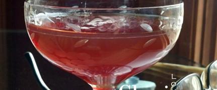 Dark Cherry Manhattan Cocktail - Rittenhouse Rye, Lillet Blanc, Heering Cherry Liqueur, Angostura Bitters, Orange Twist Garnish