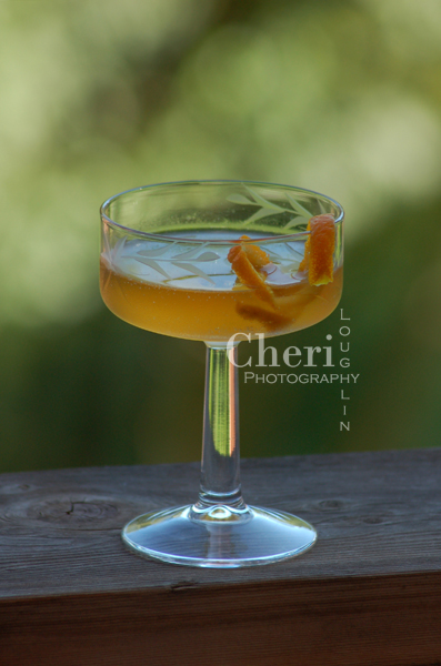 Brainstorm 2 ounces Irish Whiskey 1 ounce Sweet Vermouth 1/4 ounce Benedictine Orange Twist Garnish